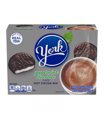 Hershey's York Peppermint Hot Cocoa Mix 6-Pack - 5.29oz (150g) Soda and Drinks York