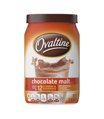Ovaltine Chocolate Malt Drink Mix (US) - 12oz (340g) Soda and Drinks