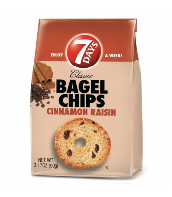 7 Days Bagel Chips Cinnamon Raisin 3.17oz (90g)