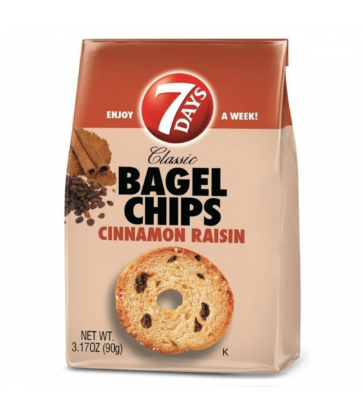 Clarance Special - 7 Days Bagel Chips Cinnamon Raisin 3.17oz ** February 2017 ** Clearance Zone