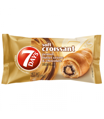 7 Days Soft Filled Croissant Peanut Butter & Cocoa 2.65oz (75g) Cookies and Cakes