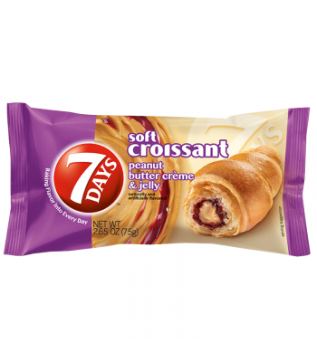 Clearance Special - 7 Days Peanut Butter & Jelly Filled Croissant - 2.25oz (75g) **Best Before: 06 October 20** Clearance Zone