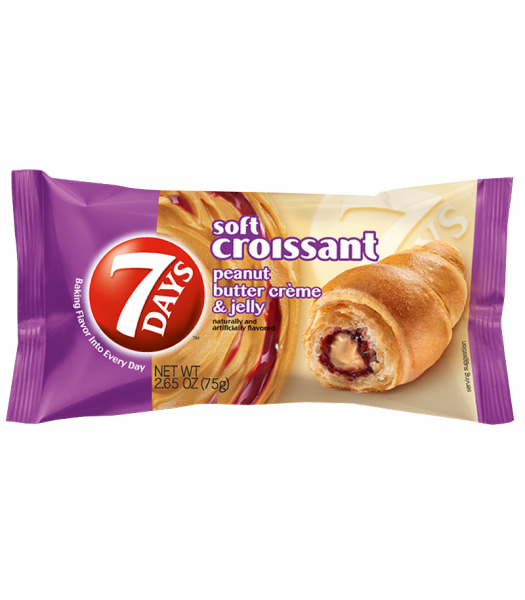 7 Days Peanut Butter & Jelly Filled Croissant - 2.25oz (75g) Cookies and Cakes