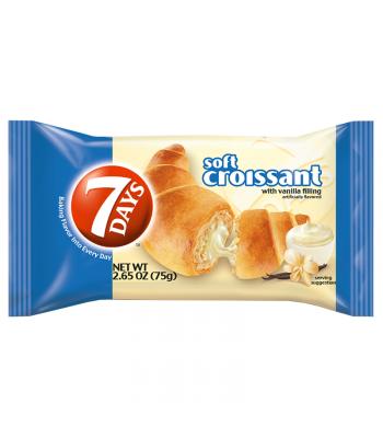 7 Days Soft Croissant /w Vanilla Filling 2.65oz (75g) Snack Cakes