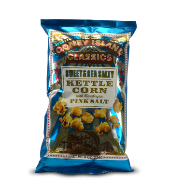 Coney Island Classics Sweet & Sea Salt Popcorn 8oz (227g) Snacks and Chips