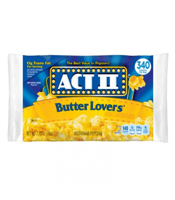 Act II Butter Lovers Popcorn - 2.75oz (78g) Snacks and Chips