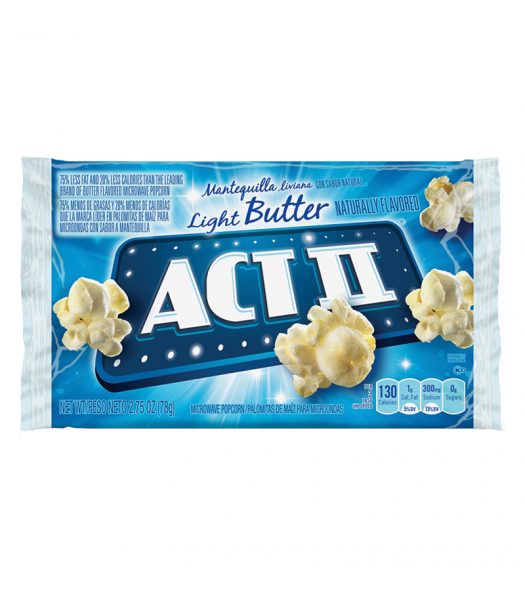 Act II Light Butter Popcorn - 2.75oz (78g) Snacks and Chips