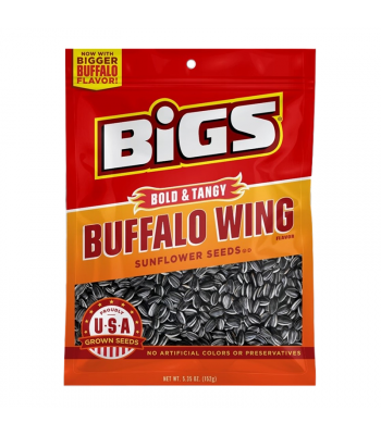 BIGS Sunflower Seeds - Bold & Tangy Buffalo Wing - 5.35oz (152g) Snacks and Chips
