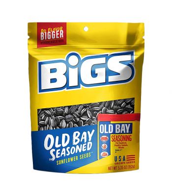 BIGS Sunflower Seeds Old Bay Peg Bags - 5.35oz (152g) Snacks and Chips
