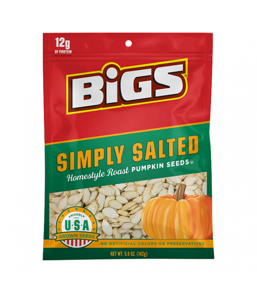 BIGS Pumpkin Seeds Simply Salted 5oz (142g) Snacks and Chips
