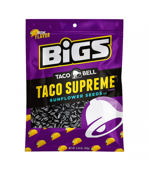 BIGS Sunflower Seeds Taco Bell Supreme 5.35oz (152g) Food and Groceries