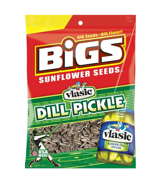 BIGS Sunflower Seeds - Vlasic Dill Pickle - 5.35oz (152g) Snacks and Chips