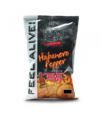 Blair's Death Rain Habanero Potato Chips 1.5oz (43g) Crisps & Chips