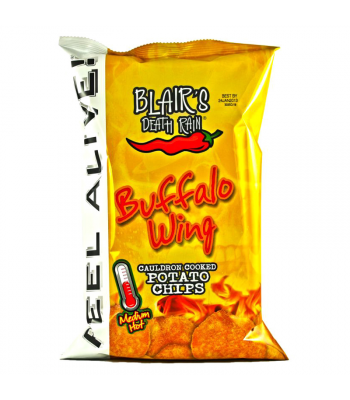 Clearance Special - Blair's Death Rain Buffalo Wing Potato Chips 1.5oz (43g) ** Best Before: 18th Feb 2019 ** Clearance Zone