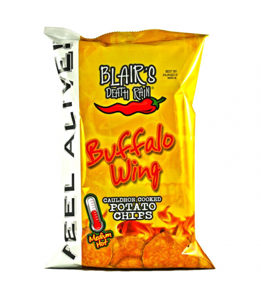 Clearance Special - Blair's Death Rain Buffalo Wing Potato Chips 1.5oz (43g) ** Best Before: May 2019 **  Blair's