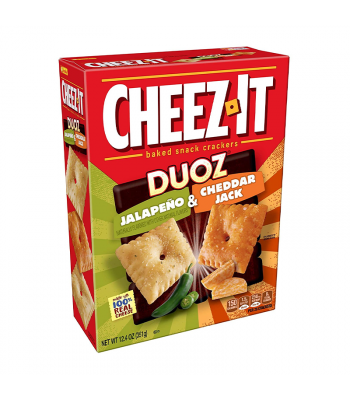 Cheez It Duoz Jalapeno & Cheddar Jack - 12.4oz (351g) Snacks and Chips Cheez It