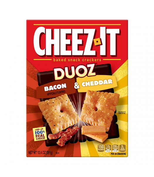 Cheez It Duoz Bacon & Cheddar 12.4oz (351g) BIG BOX Snacks and Chips Cheez It