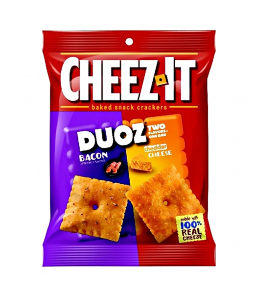 Cheez-It Duoz - Bacon & Cheddar - 4.3oz (121g) Snacks and Chips Cheez It