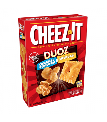 Cheez It Duoz Caramel Popcorn & Cheddar - 8.7oz (246g) Snacks and Chips Cheez It