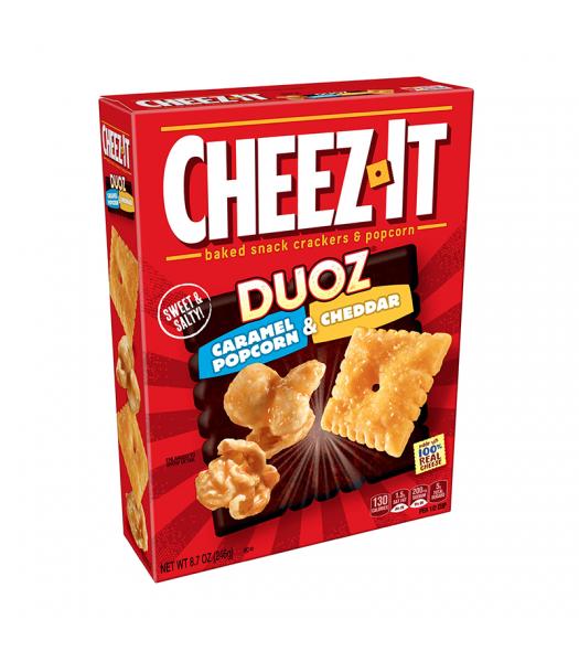 Cheez It Duoz Caramel Popcorn & Cheddar - 8.7oz (246g) Snacks and Chips Cheez It