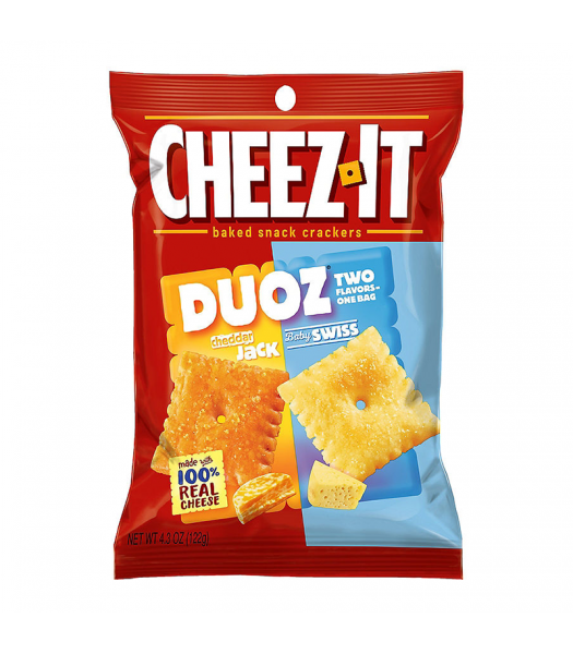 Cheez It Duoz Cheddar Jack & Baby Swiss 4.3oz (122g) Food and Groceries Cheez It