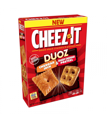 Cheez It Duoz Cheddar Jack & Sharp Cheddar Pretzel - 9oz (255g) Snacks and Chips Cheez It