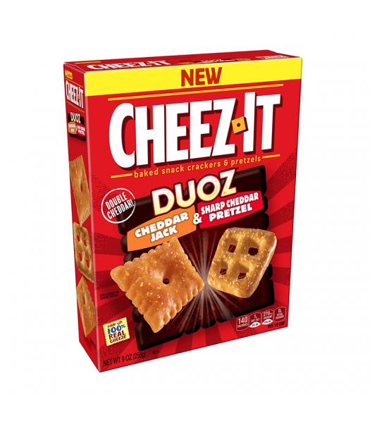 Cheez It Duoz Cheddar Jack & Sharp Cheddar Pretzel - 9oz (255g) Snacks and Chips Cheez It