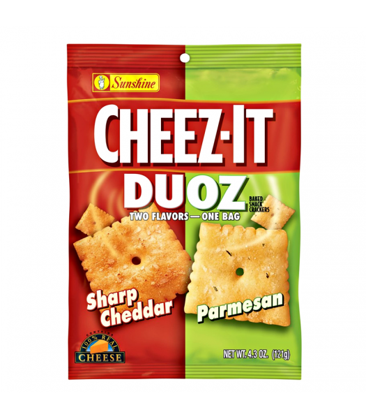 Cheez-It Duoz - Sharp Cheddar & Parmesan - 4.3oz (121g) Snacks and Chips Cheez It
