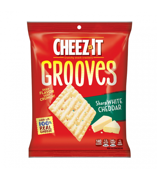 Cheez-It Grooves Sharp White Cheddar - 3.25oz (92g) Snacks and Chips Cheez It