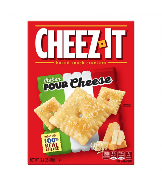 Cheez-It Italian Four Cheese - 12.4oz (351g) BIG BOX Snacks and Chips Cheez It