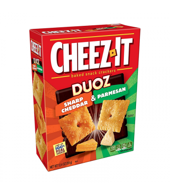 Cheez It Duoz Sharp Cheddar & Parmesan - 12.4oz (351g) Snacks and Chips Cheez It