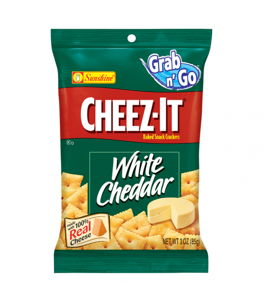 Cheez Its White Cheddar 3oz Big Bag (85g) Crackers Cheez It
