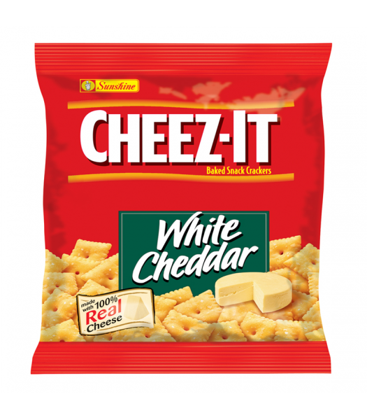 Cheez It Crackers White Cheddar 1.5oz (42g) Snacks and Chips Cheez It