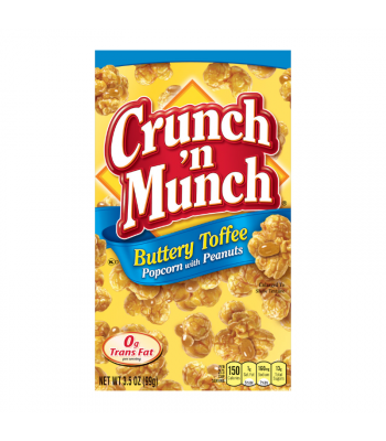 Clearance Special - Crunch 'n Munch Buttery Toffee Popcorn with Peanuts 3.5oz (99g) **Best Before: April 21** Clearance Zone