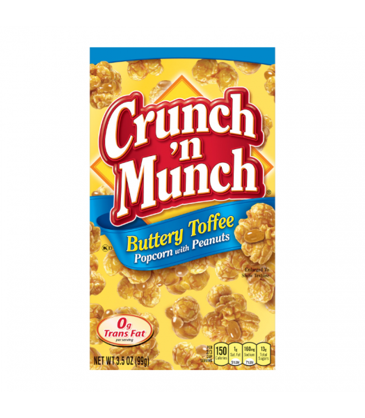Crunch 'n Munch Buttery Toffee Popcorn with Peanuts 3.5oz (99g) Snacks and Chips
