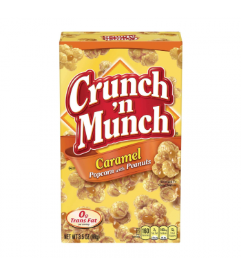 Clearance Special - Crunch 'n Munch Caramel Popcorn with Peanuts 3.5oz (99g) **Best Before: April 21** Clearance Zone