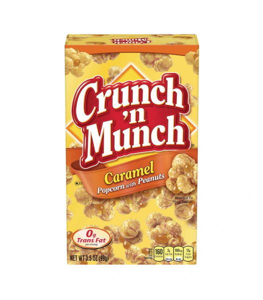 Crunch 'n Munch Caramel Popcorn with Peanuts 3.5oz (99g) Snacks and Chips