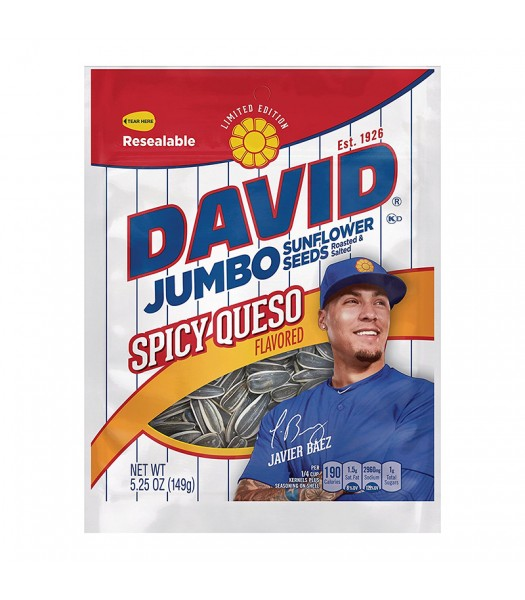 David's Sunflower Seeds Spicy Queso 5.25oz (149g) Snacks and Chips David