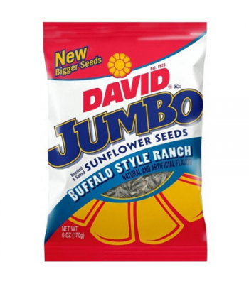 David's Sunflower Seeds Jumbo Buffalo Style Ranch 5.25oz (149g) Snacks and Chips David