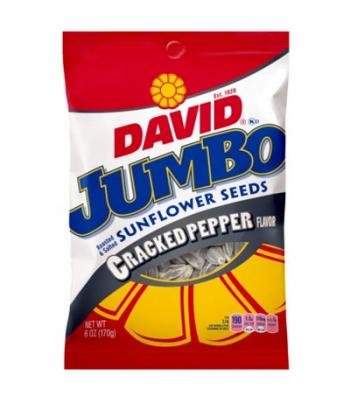 David's Sunflower Seeds Jumbo Cracked Pepper 5.25oz (149g)
