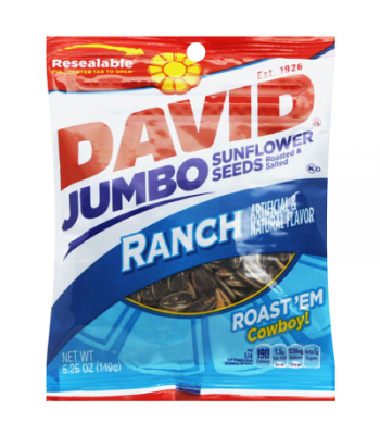 David's Sunflower Seeds Jumbo Ranch 5.25oz (149g) Nuts & Seeds