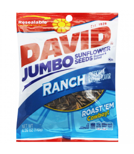 David's Sunflower Seeds Jumbo Ranch 5.25oz (149g) Snacks and Chips David