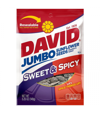 David's Sunflower Seeds Jumbo Sweet & Spicy 5.25oz (149g) Nuts & Seeds