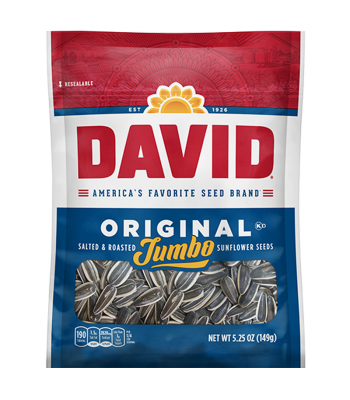 David's Jumbo Sunflower Seeds Original - 5.25oz (149g) Snacks and Chips David