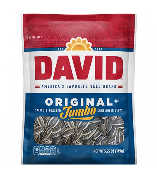 David's Jumbo Sunflower Seeds Original - 5.25oz (149g) Snacks and Chips David