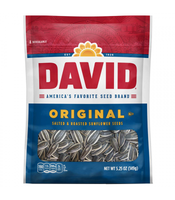 David's Sunflower Seeds Original - 5.25oz (149g) Snacks and Chips David