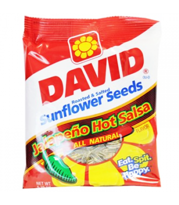 Clearance Special - David's Sunflower Seeds Jalapeno Hot Salsa 5.25oz (149g) **Best Before: 31 May 21** Clearance Zone