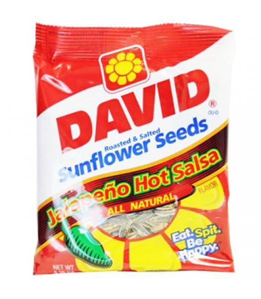 David's Sunflower Seeds Jalapeno Hot Salsa 5.25oz (149g) Snacks and Chips David