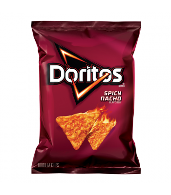 Doritos Spicy Nacho Cheese Corn Chips 7oz (198.4g) Snacks and Chips Frito-Lay