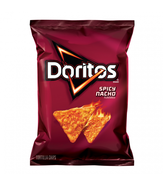 Doritos Spicy Nacho Cheese Corn Chips 7oz (198.4g) Snacks and Chips Frito-Lay